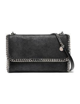 Chain Trimmed Faux Suede Shoulder Bag by Stella Mc Cartney