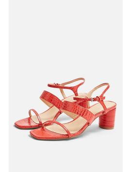 Dita Red Strap Sandals by Topshop