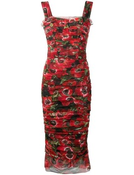 Floral Print Tulle Dress by Dolce & Gabbana