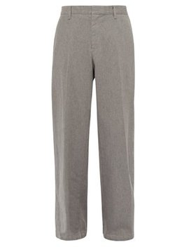 Wide Leg Cotton Twill Trousers by Undercover