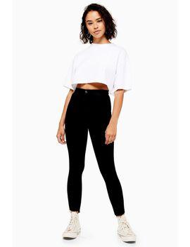 Petite Black Let Hem Joni Jeans by Topshop