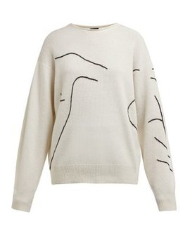 Abstract Embroidered Sweater by Joseph