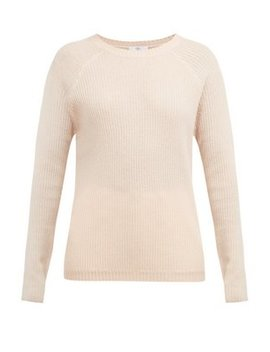 Ribbed Fine Knit Cashmere Sweater by Allude