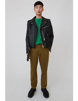 Cotton Trousers Olive Green by Acne Studios