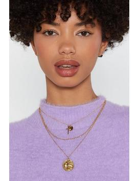18k Gold Plated Layered Coin Necklace by Nasty Gal