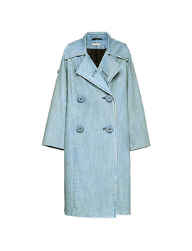 Classic Washed Denim Coat by Miu Miu