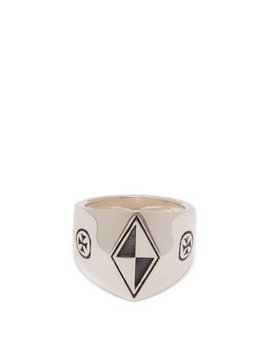 Anti Social Silver Signet Ring by Vetements