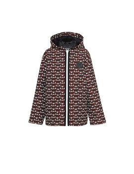Cotton Jacquard Jacket With Logo by Miu Miu