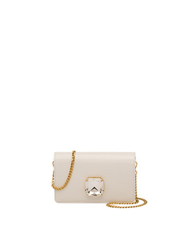 Miu Solitaire Patent Leather Clutch by Miu Miu