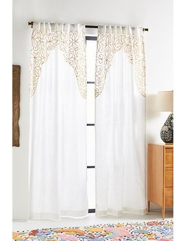 Embroidered Betina Curtain by Anthropologie