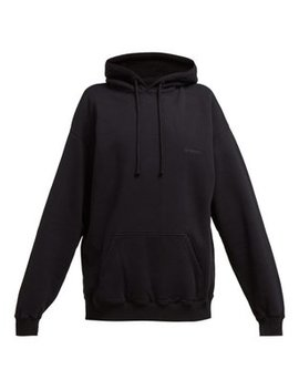 Cut Out Elbows Cotton Hooded Sweatshirt by Vetements