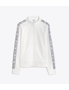 Banner Track Jacket by Tory Burch