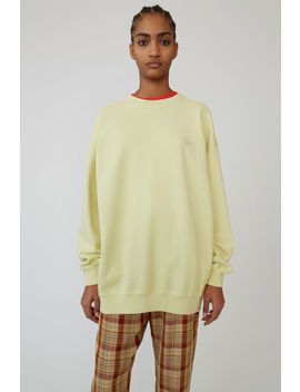 Crewneck Sweatshirt Vanilla Yellow by Acne Studios