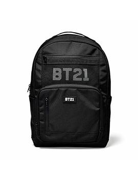 Bt21 Offical Merchandise By Line Friends   Mesh Backpack Travel Bag, Black by Bt21