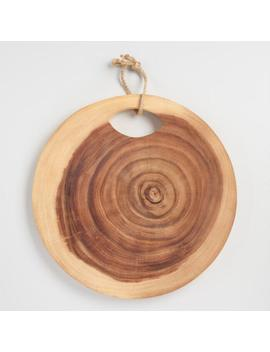 Round Raw Edge Tree Ring Cutting Board by World Market