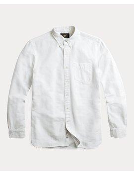 Selvedge Cotton Oxford Shirt by Ralph Lauren
