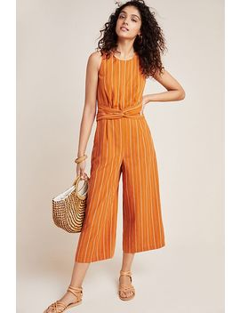 Striped Sleeveless Jumpsuit by Greylin