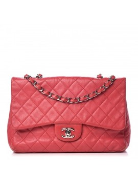 Chanel Caviar Quilted Jumbo Single Flap Fuchsia by Chanel