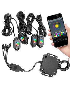Rgb Led Rock Light Kits, Swatow Industries Neon Led Light Waterproof Bluetooth Lights For Car Jeep Truck Off Road Atv Utv Motorcycle Boat by Swatow Industries