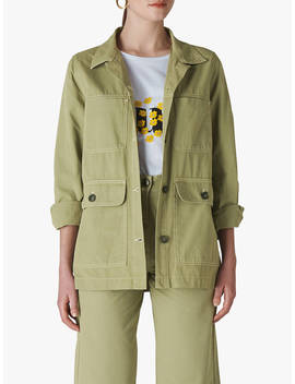 Whistles Casual Utility Jacket, Pale Green by Whistles