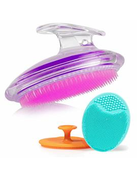 Exfoliating Brush For Razor Bumps And Ingrown Hair Treatment, Silicone Face Scrubbers, Face And Body Exfoliator Set   Perfect For Dry Brushing, By Dylonic by Dylonic