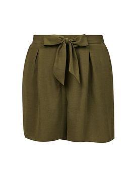 Khaki Tie Waist Shorts by Dorothy Perkins