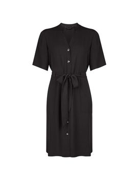 Black Notch Neck Dress by Dorothy Perkins