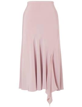 Chesca Satin Back Godet Skirt, Powder Pink by Chesca