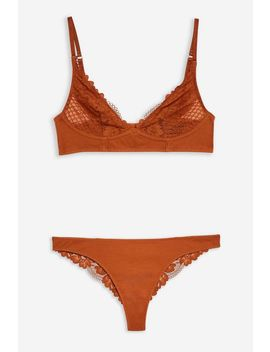Lace Ribbed Underwear Set by Topshop