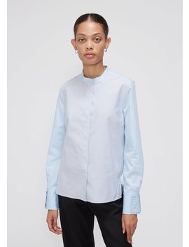 Collarless Evening Shirt by Wales Bonner