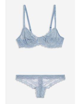 Pale Blue Lace Underwear Set by Topshop