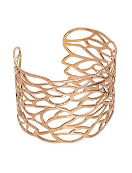 John Lewis & Partners Cut Out Leaf Cuff, Rose Gold by John Lewis &Amp; Partners