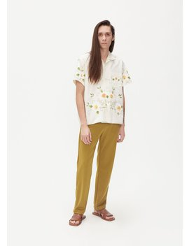 German Flower Bowling Shirt by Bode