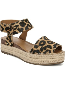 Oak Genuine Calf Hair Platform Wedge Espadrille by Sarto By Franco Sarto