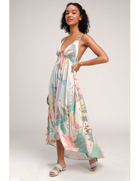 kaitlyn-beige-multi-print-strappy-backless-maxi-dress by oneill