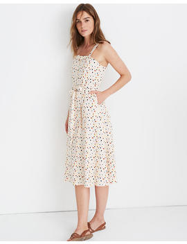 Square Neck Tank Midi Dress In Terrazzo by Madewell