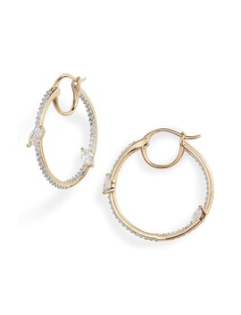 breeze-cubic-zirconia-hoop-earrings by nadri