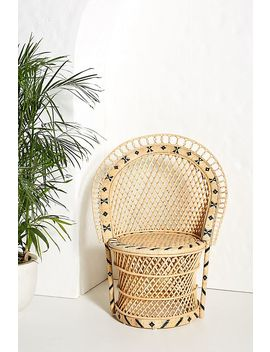 Barrel Backed Woven Dining Chair by Anthropologie