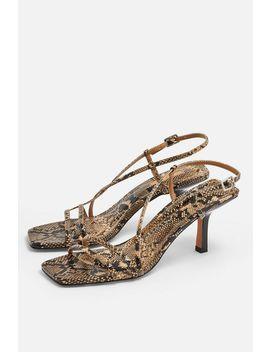 Strippy Snake Heeled Sandals by Topshop