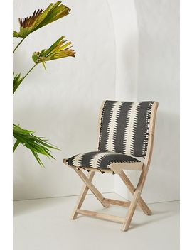 Suren Striped Terai Folding Chair by Anthropologie