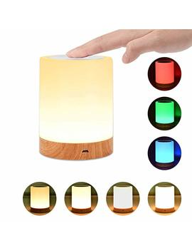 Night Light, Unifun Touch Lamp For Bedrooms Living Room Portable Table Bedside Lamps With Rechargeable Internal Battery Dimmable 2800 K 3100 K Warm White Light & Color Changing Rgb by Unifun