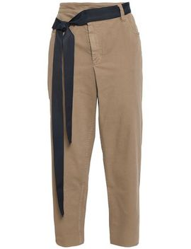 Belted High Rise Tapered Jeans by Brunello Cucinelli
