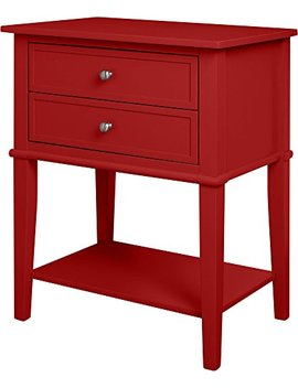 Ameriwood Home Franklin Accent Table With 2 Drawers, Red by Ameriwood Home