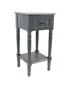 Décor Therapy Fr1548 Simplify One Drawer Square Accent Table, Antique Navy by Decor Therapy