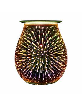 Electric Oil Warmer Coosa 3 D Effect Starburst Fireworks Glass Wax Tart Burner Fragrance Candle Warmer Incense Oil Night Light Aroma Decorative Lamp For Gifts, Decor... by Coosa