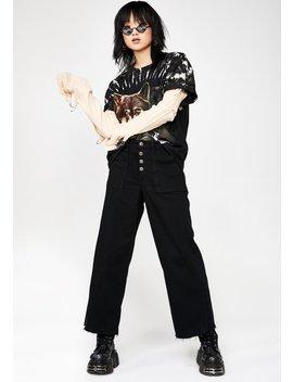 e49d2d44bfe Midnight Nori Utility Cropped Wide Leg Jeans by Hidden Denim