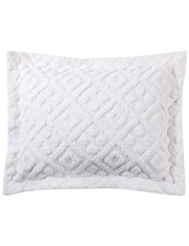 stylemaster-diamond-tufted-chenille-sham-standard,-white by style-master