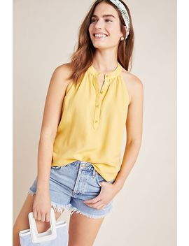 Cloth & Stone Henley Halter Top by Cloth & Stone