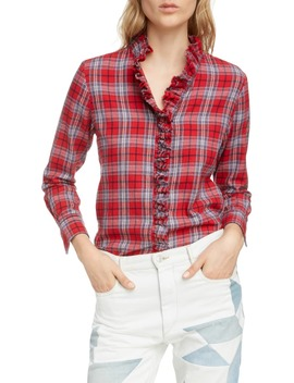 Dawendy Ruffle Plaid Top by Isabel Marant Étoile
