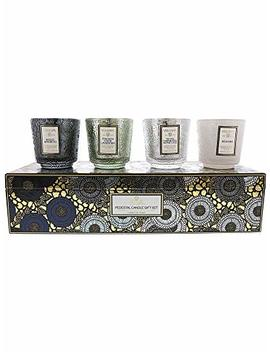 Voluspa Pedestal Candle Gift Set Vol 7295 by Voluspa